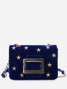 مشبك حزام نجوم حقيبة كروسبودي - أزرق