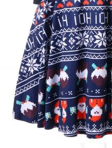 M Vestido De Cruzado Azul Criss Navidad Cruzado SYf4YwPqU