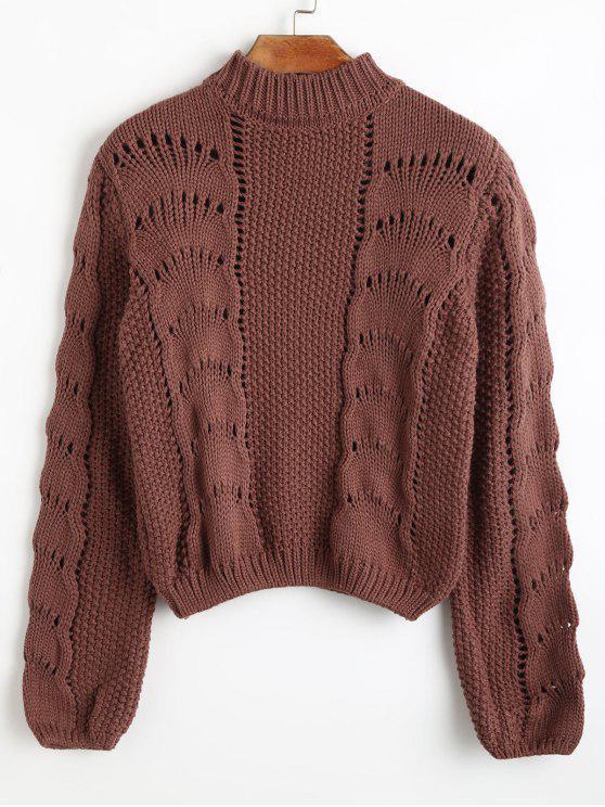 High Neck Loose Knit Sweater CHOCOLATE: Sweaters ONE SIZE | ZAFUL