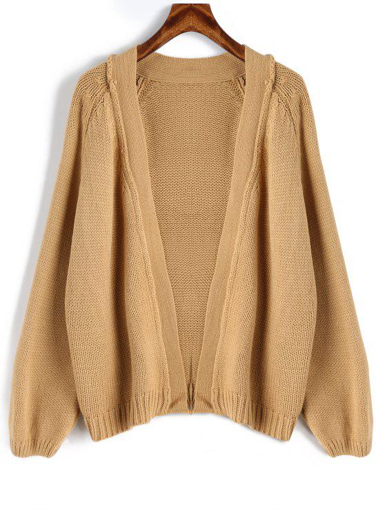 36% OFF  2019 Raglan Sleeve Open Front Loose Cardigan In CAMEL ONE ... 77459cb9a