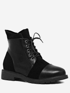 Low Heel Short Boots - Black 36