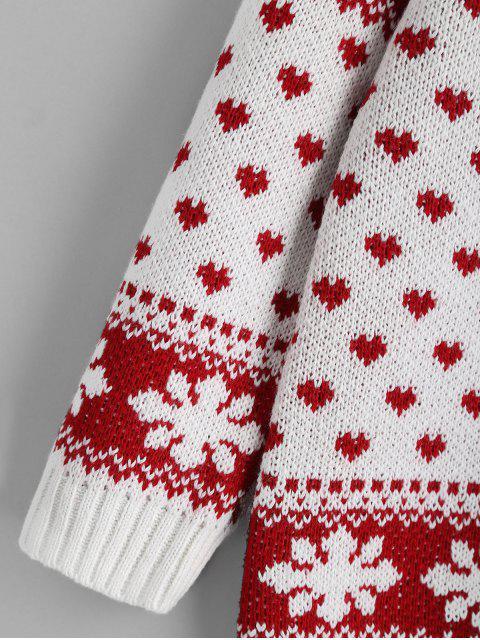 Elchherz Weihnachtsstrickjacke - Rot und Weiß S Mobile