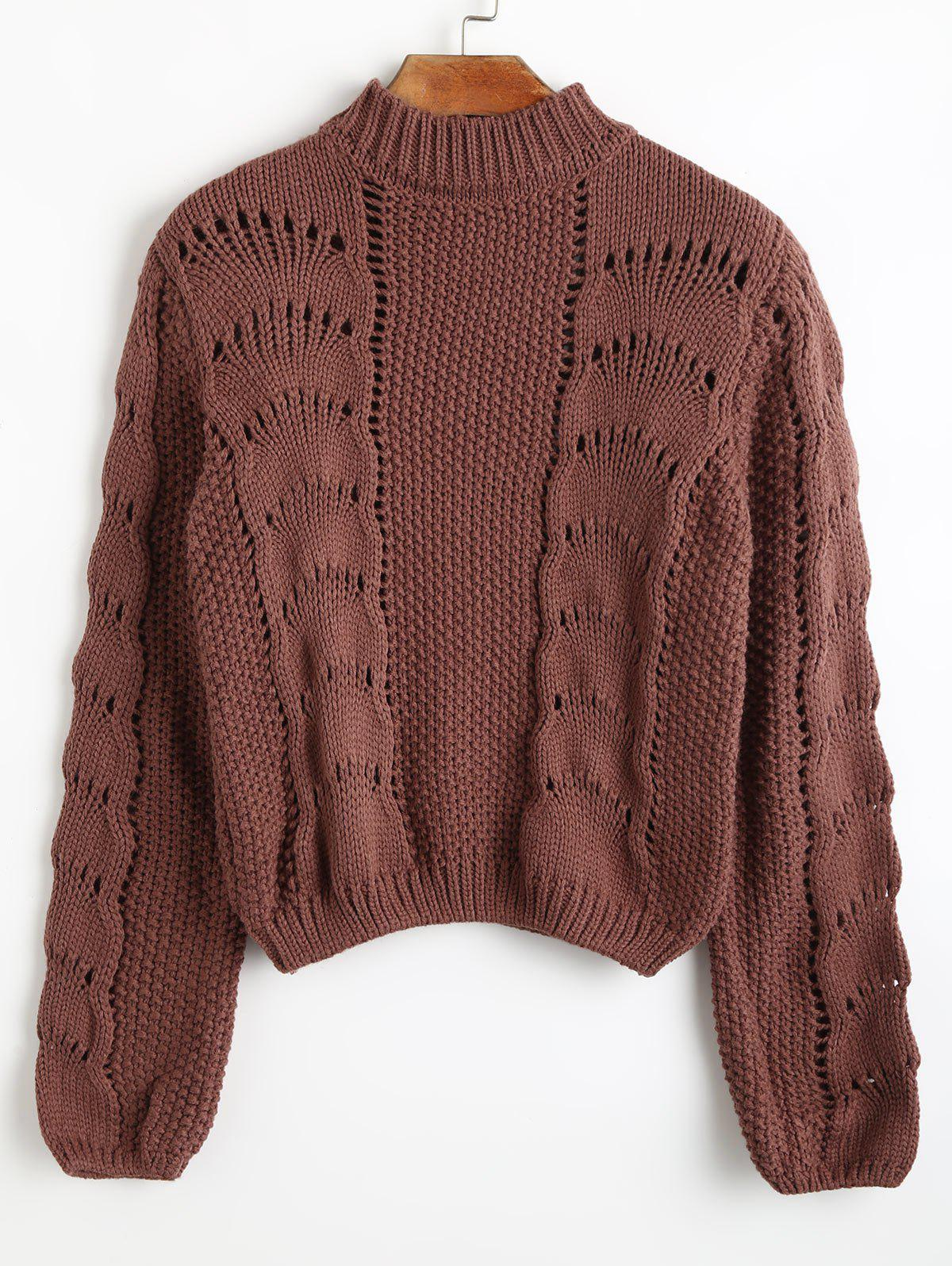 High Neck Loose Knit Sweater 235067801