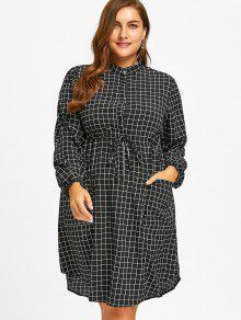 فستان شيرت الحجم الكبير  - أسود 2xl