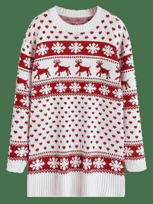 elk heart christmas sweater