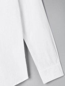 Con Animados o De Blanco Camisa Tama Gran Dibujos Bordada nfXnaF0