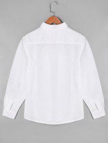 Floral Camisa Blanco Bordada Manga De Larga UUq5w8r