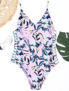 طباعة سترابي ملابس السباحة - زهري S