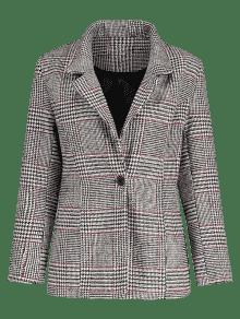 Zaful checked blazer