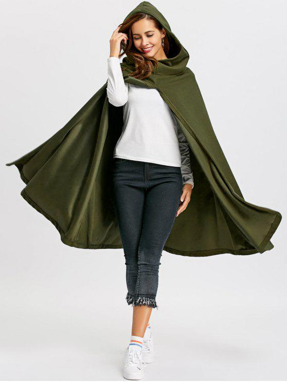 9464127fc8a 44% OFF  2019 Hooded Cape Coat In ARMY GREEN