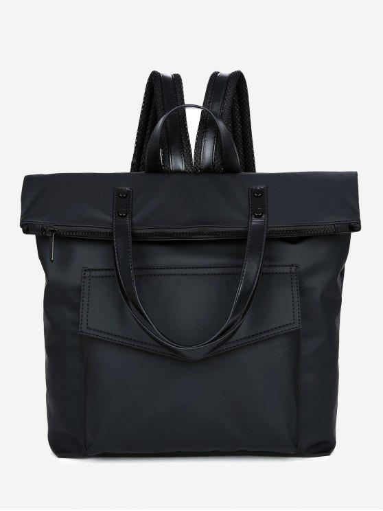 shop Stitching Multi Function Backpack - BLACK