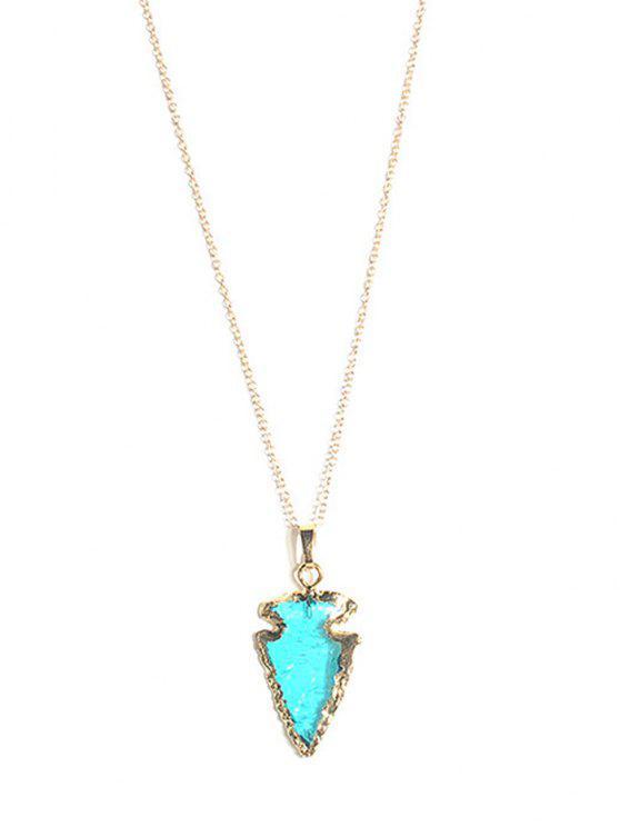 Naturstein Pfeil Anhänger Halskette - Blau