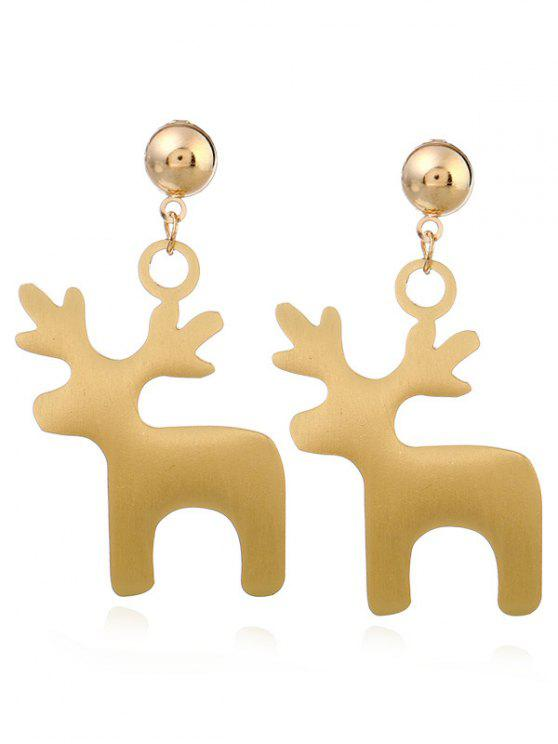 buy Cute Christmas Elk Earrings - GOLDEN