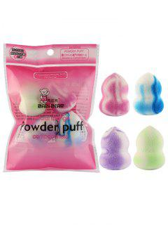 4Pcs Multifunctional  Makeup Sponge Puffs - Pattern B