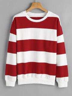Weites Sweatshirt Mit Drop Schulter Und Streifen  - Streifen  S
