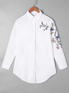 Chemise Tunique Brodée - Blanc