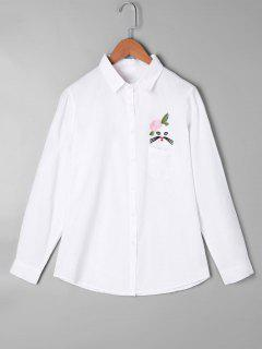 Applique Patch Pocket Shirt - White