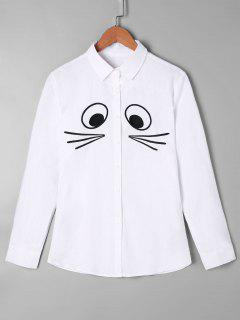 Cartoon Monochrome Shirt - White