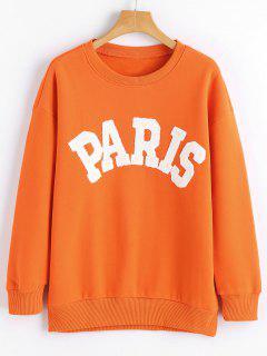 Long Sleeve Paris Print Sweatshirt - Jacinth S