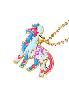 Alloy Lucky Animal Pendant Necklace - Pattern D