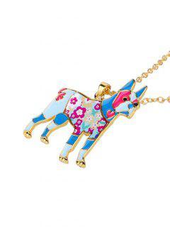 Alloy Lucky Animal Pendant Necklace - Pattern E