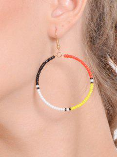 Beaded Circle Hook Earrings