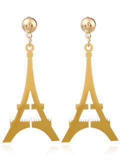 Boucles D'oreilles Tour Eiffel - Or