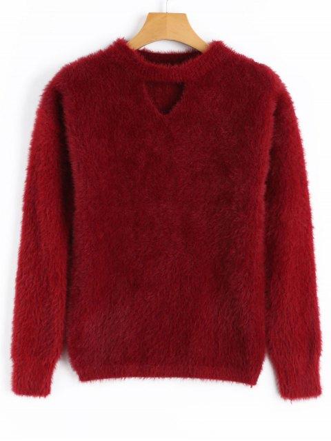 Suéter de corte Mohair - Rojo oscuro Única Talla Mobile