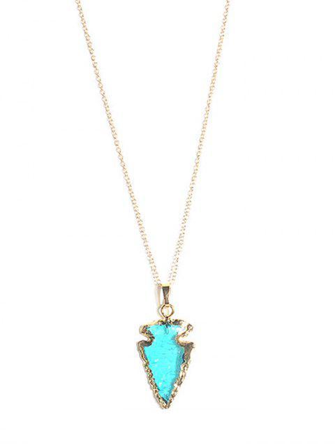 Collar colgante de flecha de piedra natural - Azul  Mobile