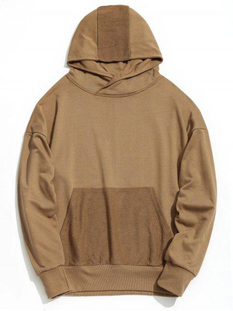 Drop Shoulder Kangaroo Pocket Hoodie - Caqui S Mobile