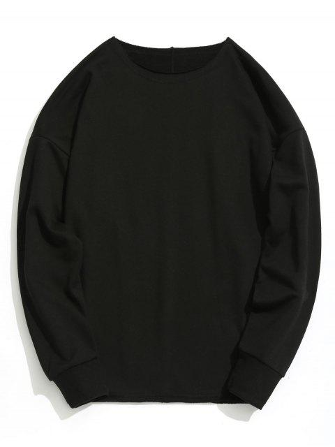 Sweat-shirt Oversize Simple - Noir S Mobile