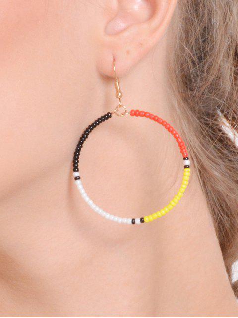 Perlen Kreis Haken Ohrringe - COLORMIX   Mobile