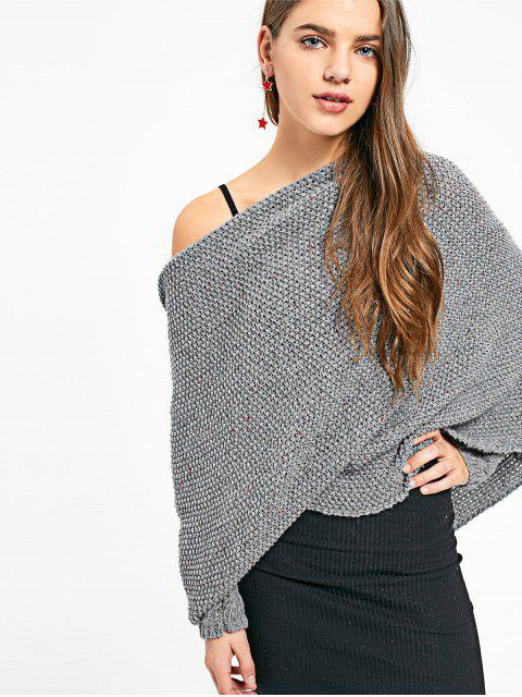 chic Convertible Chunky Sweater with Separate Sleeves - DARK GRAY ONE SIZE Mobile