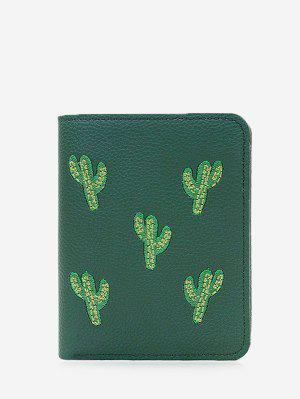 Embroidery Cactus Bi Fold Wallet