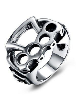 Geometrischer Muster-Titanstahl-rollender Radfahrer-Ring