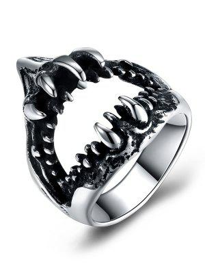Gothic Style Stainless Steel Teeth Biker Ring