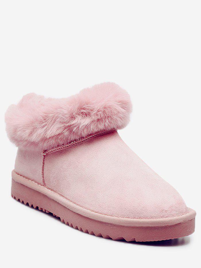 Faux Fur Trim Warm Snow Boots 234848819