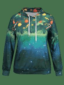 galaxy plus size christmas hoodie - Christmas Hoodie