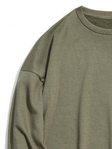 Shoulder L Ejercito Verde Drop Sudadera Plain pfwq001