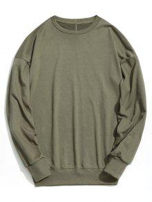 Verde Sudadera L Plain Drop Ejercito Shoulder z06Snq1