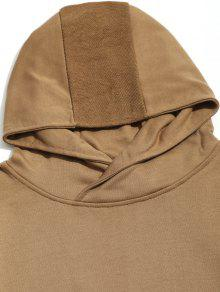 Drop Pocket Hoodie Shoulder Kangaroo L Caqui S4wcSvrfq
