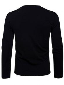 Neck Oblique 2xl Camiseta 233;trica Negro Zip Up Asim Crew UZqwdU