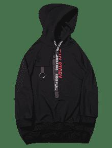 Low 2xl Negro Hoodie Letter Streetwear High cSWpp1