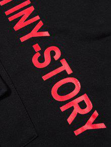 Negro Streetwear High Letter Low Hoodie 2xl 66zRwqg