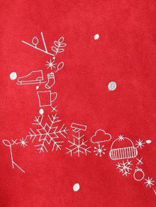 De De Gamuza Sudadera De Navidad Rojo Xl Reno IxwXgdXPq