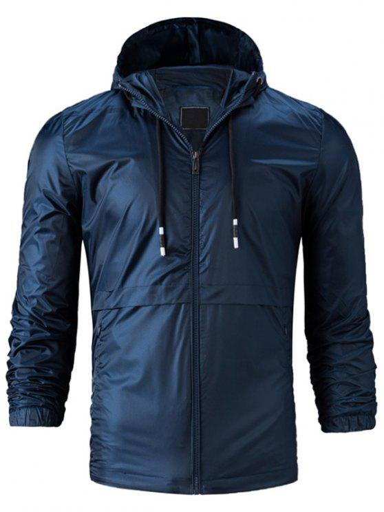Kapuzenpullover mit Reißverschluss, leichte Jacke - Cadetblue 4XL