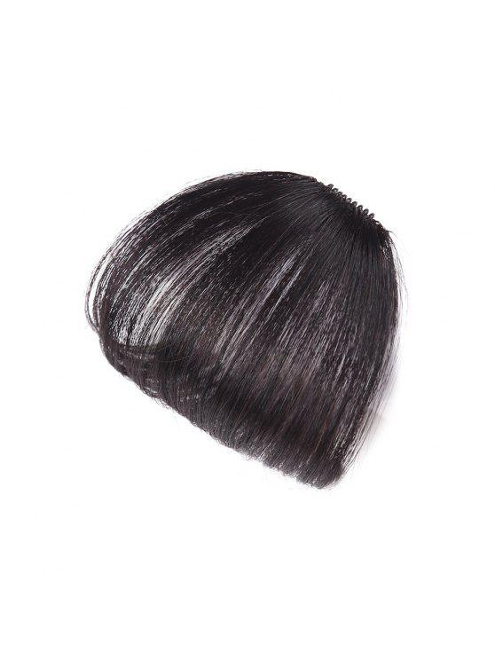 Human Hair Short Clip In See Through Bang Hair Extension Natural