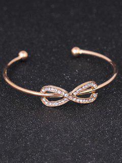 Rhinestoned Infinite Cuff Bracelet - Golden