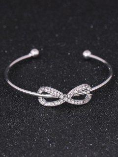 Rhinestoned Infinite Cuff Bracelet - Silver