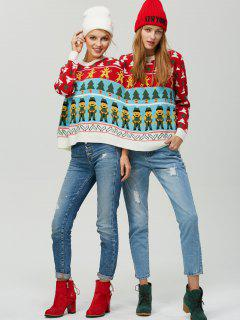 Ugly Christmas Tree Cookie Two Person Sweater